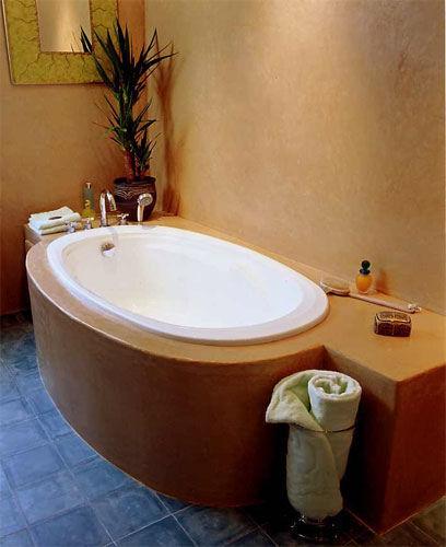 Putzgestaltung im bad mit marokkanischen kalkputz - Bad fliesen und putz ...